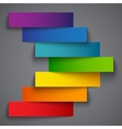 Colorful rainbow paper stripe banners arrow on vector image