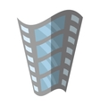 film strip negative equipment video shadow vector image