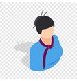 girl in korean costume isometric icon vector image