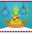 New year greeting card christmas tree vector image