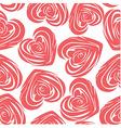 Pink art heart vector image
