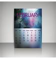 Polygonal 2016 calendar design for FEBRUARY vector image