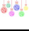snow balls vector image