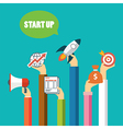start up business concept flat design vector image