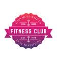 vintage fitness club logo badge emblem vector image