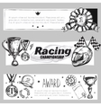 Winner Medal Banner Set vector image