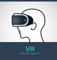 vr glasses for smartphone virtual reality vector image