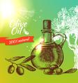 Vintage olive background Hand drawn vector image vector image