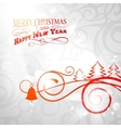 Christmas curving sign vector image vector image