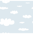 Tile sky pattern white clouds on blue background vector image vector image