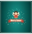 Christmas card with fairy vector image vector image