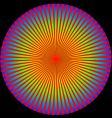 rainbow burst vector image vector image