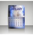 Polygonal 2016 calendar design for JANUARY vector image