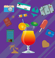 Summer infographics vector image