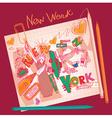 new york doodles vector image vector image