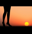 business woman walk vector image