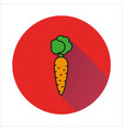carrot simple icon on white background vector image