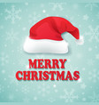 christmas background with hat of santa claus vector image