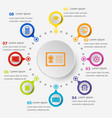 infographic template with education icons vector image