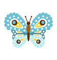 light blue beautiful butterfly vector image