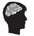 man with spinner gears in the brains vector image