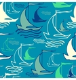 Seamless pattern with decorative retro sailing vector image