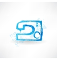 sewing-machine grunge icon vector image