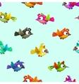 Seamless pattern with cute cartoon little birds vector image