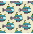 Submarine pattern seamless vector image vector image