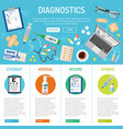 medical banner and infographics vector image vector image