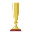 golden cup award or champion winner gold goblet vector image vector image