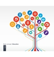 Abstract education background vector image vector image