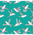 humming bird pattern vector image vector image
