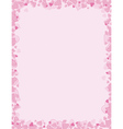 pink background for valentines day vector image