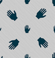 Hand print sign icon Stop symbol Seamless pattern vector image