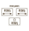 Pointers archery vector image