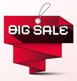 Big Sale Red Paper Label vector image vector image