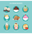 Favorite of ice cream set flat design vector image