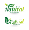 Nature label 2 vector image