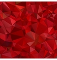 Abstract red background polygon vector image