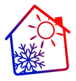 Air conditioning House silhouette vector image