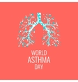 Asthma awareness poster vector image