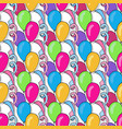 birthday seamless pattern with colorful balloons vector image
