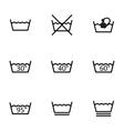 black washing signs icon set vector image