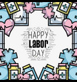 labor day celebration and patriotism holiday vector image