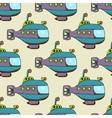Submarine pattern seamless vector image