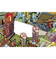 urban city vector image