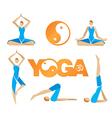 Yoga icons symbols vector image
