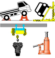 Set device for lifting a car repair vector image vector image