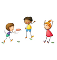frisby kids vector image vector image